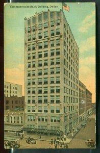 Commonwealth Bank Building Dallas Texas tx old postcard