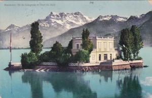 Ile de Salagnon et Dent Du Midi, MONTREUX, Switzerland, PU-1908