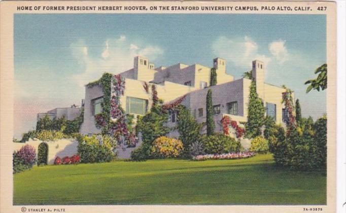 California Palo Alto Home Of Former President Herbert Hoover On Stanford Univ...