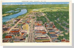 Classic Augusta, Georgia, GA Postcard, Aeroplane View