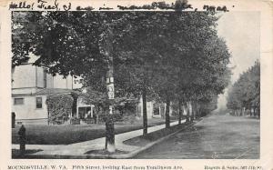 F23 Moundsville West Virginia Postcard 1906 Fifth Street Homes Tomlinson 12