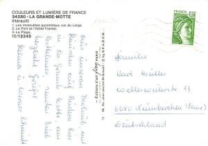 France La Grande Motte Herault Pyramidaux Le Port et l'Hotel Frantel La Plage