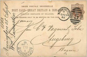 Entier Postal Stationery Postal Great Britain Great Britain 1885 Accrington t...