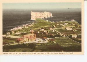 Postal 036021 : Rocher Perce de Mt. Ste. Anne-Perce Rock from of Mt. Ste. Ann...