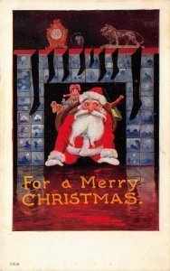 LP41 Santa Claus Christmas Postcard Artist Signed Wall Old Nick Series