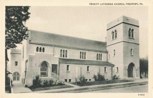 Postcard Trinity Lutheran Church Freeport PA