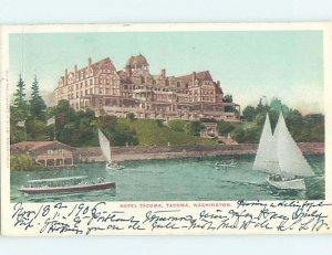 Pre-1907 HOTEL SCENE Tacoma Washington WA AE2320