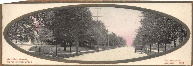 Indianapolis Indiana~Meridian Street North of Fall Creek~Narrow '10 Mailing Card