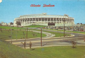 Football Stadium Postcard Sports Stadium Home of the Atlanta Braves Atlanta, ...