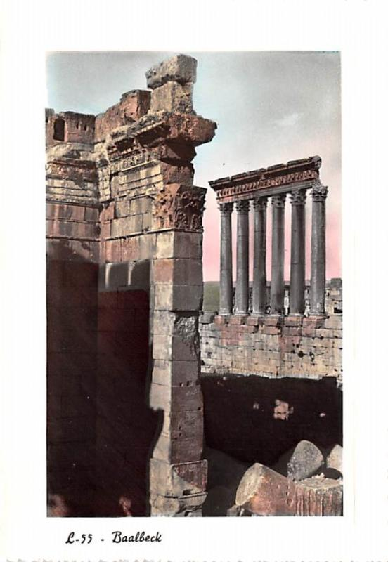 Baalbeck, Lebanon Postcard, Carte Postale The Six Colums of Jupiter Temple Ba...