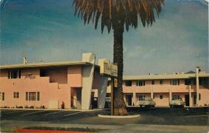 Oakland California~Bay Bridge Travelodge~Pink Motel~W MacArthur Blvd~1950s Cars