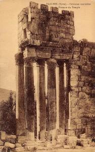 Syria Baalbek - Colonnes cannalees du Pronaos du Temple