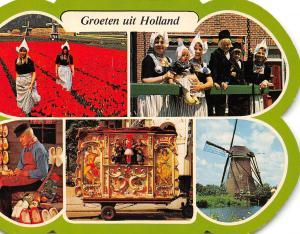 Netherlands Groeten uit Holland, costumes kostuums flower field