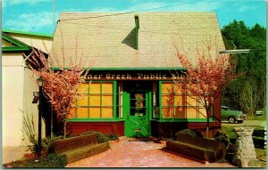 1950s BOULDER CREEK, California Postcard Public Library Building View Santa Cruz