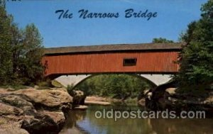 Turkey Run State Park, Indiana USA Narrows Bridge Unused