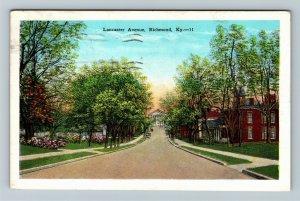 Richmond, KY-Kentucky, Lancaster Avenue, Vintage Postcard