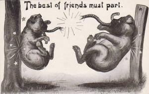 Fred Cavally Dog Series The best of friends must part