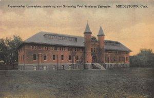 Fayerweather Gym, Wesleyan University, Middletown, CT., Early Postcard, Unused