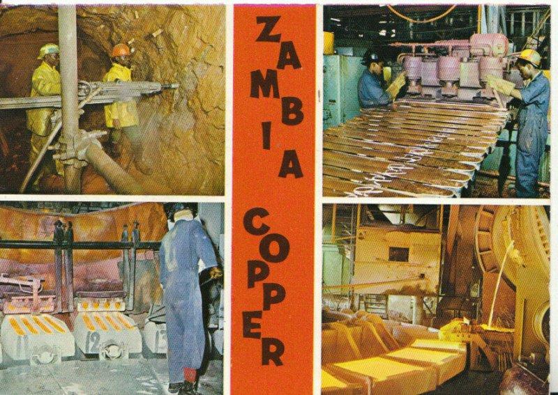 Zambia Industry Postcard - Zambia Copper - Ref 17385A