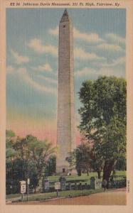 Kentucky Fairview Jefferson Davis Monument Curteich