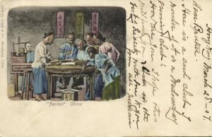 china, HONG KONG, Native Chinese Males Gambling Fantan (1907) Graça & Co.