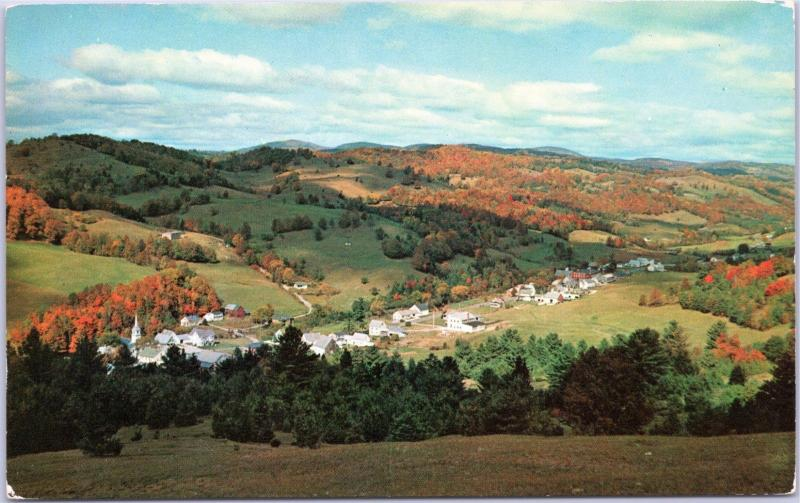 Aerial view of landscape E. Corinth, Vermont