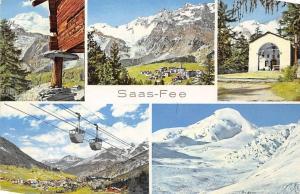 Switzerland Saas Fee Wallis, Kapelle Berg Mountain Cable Car Panorama