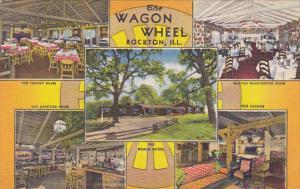 Illinois Rockton Wagon Wheel Restaurant Curteich
