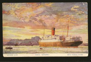 Cunard Line RMS Antonia Color Postcard Unposted