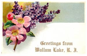 Rhode Island  Greetings from Wallum Lake