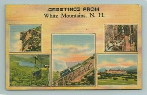 Jacob's Ladder Mt. Washington Cog Railway White Mountains New Hampshire Postcard