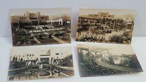 Lot of 4 Samarkand Persian Hotel Santa Barbara CA RPPC Vintage Postcards A20