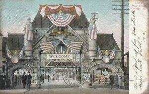 CHICAGO, Illinois, 1908 ; Entrance , Union Stock Yards