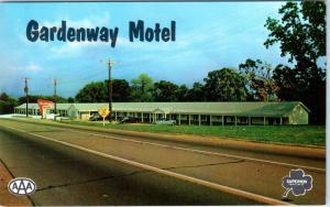 VILLA RIDGE, Missouri  MO   Roadside Route 66  GARDENWAY MOTEL  c1950s  Postcard