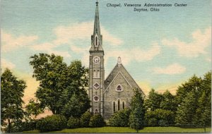Dayton Ohio~Veterans Administration Center Chapel~Tall Steeple-Clock Tower~1956