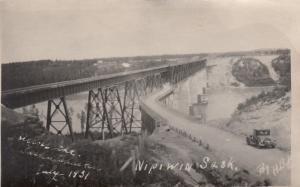 RP, Railroad Bridge, NIPIWIN, Saskatchewan, Canada, 1951