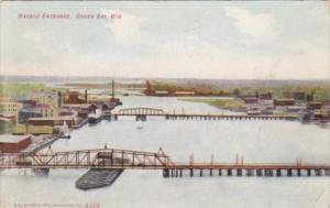 Wisconsin Green Bay The Harbor Entrance 1908
