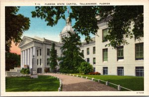 Tallahassee FL State Capitol Postcard unused 1930s/40s