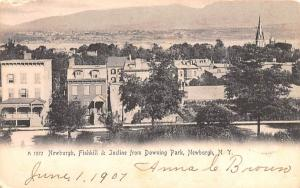 Newburgh, Fishkill & Incline from Downing Park New York Postcard