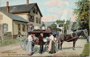 The Yankee Pedler South Farmington MA Mass c1909 Postcard E46 *As Is