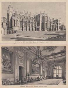 St Saint George Georges Chapel Windsor Castle 2x Antique Tucks Mint Postcard s