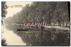 Old Postcard Caen edges of the Orne The Great Courses