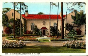 Florida Beautiful Spanish Style Residence Curteich