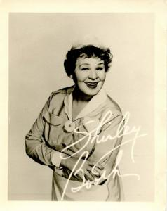 Autograph - Shirley Booth, Actress. PRINTED-- NOT PERSONALLY SIGNED (Not a po...