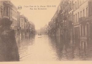 Liege 1925 Flood Rue Des Guillemine Antique Disaster Postcard