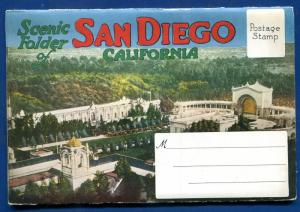 San Diego California postcard folder 1920s