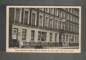 Mint Picture Postcard Salvation army Hotel for Canada Soldiers London England