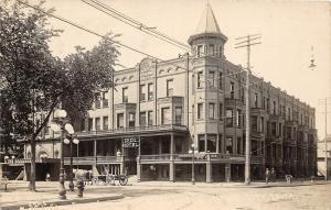 F35/ Mason City Iowa RPPC Postcard c1910 Cecil Hotel Building
