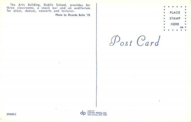 Dublin School Arts Building Exterior Vintage Postcard JA4741796