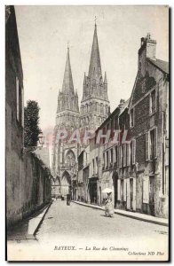 Old Postcard Bayeux Rue Des Canons